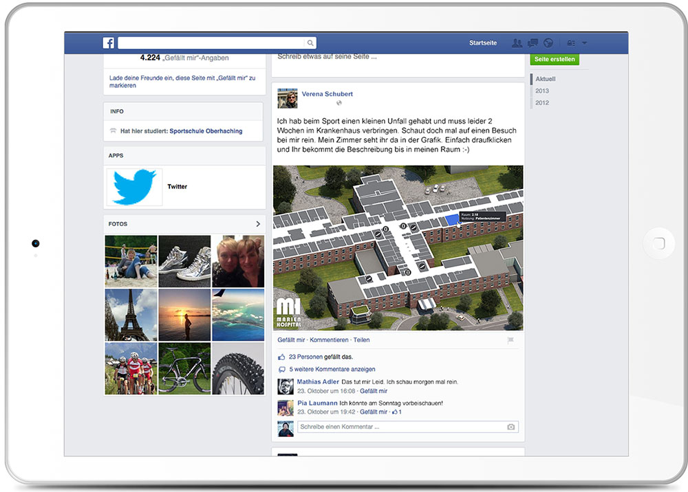 Indoornavigation Social Media